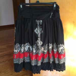 Dress barn boho skirt size Small